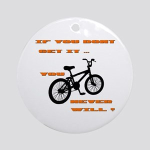 BMX Bike Round Ornament