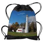 Sturgeon Point Lighthouse Drawstring Bag