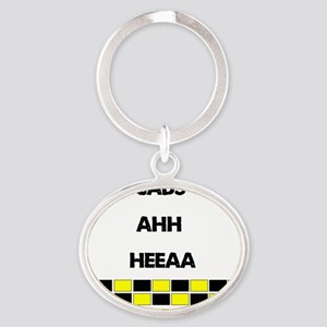Cabs Oval Keychain