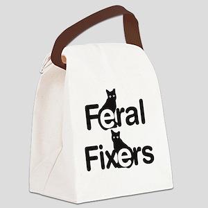 FeralFixersVerticalLogo Canvas Lunch Bag