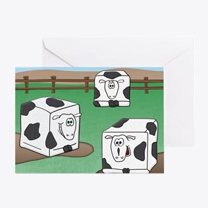2011cubesteaks Greeting Card