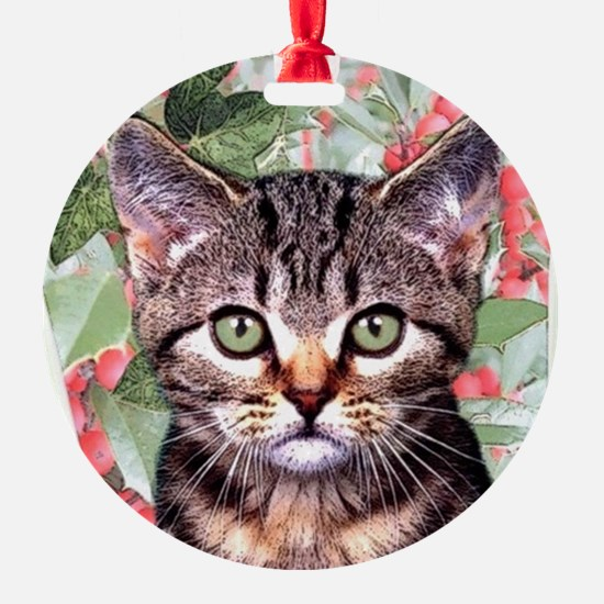 Holly - round - xmas ornament Ornament