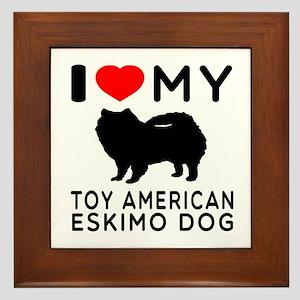 I love My Toy American Eskimo Dog Framed Tile