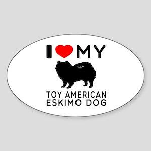 I love My Toy American Eskimo Dog Sticker (Oval)