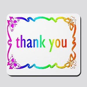 THANK YOU  note cards BUTTERFLIES Mousepad