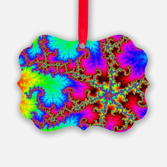 Rainbow Lightning Ornament