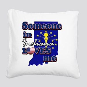indiana Square Canvas Pillow