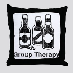 3 beers.trans Throw Pillow