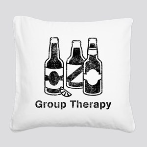 3 beers.trans Square Canvas Pillow