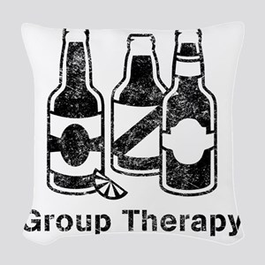 3 beers.trans Woven Throw Pillow