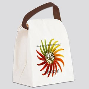 charleston_hot_peppers_white_back Canvas Lunch Bag