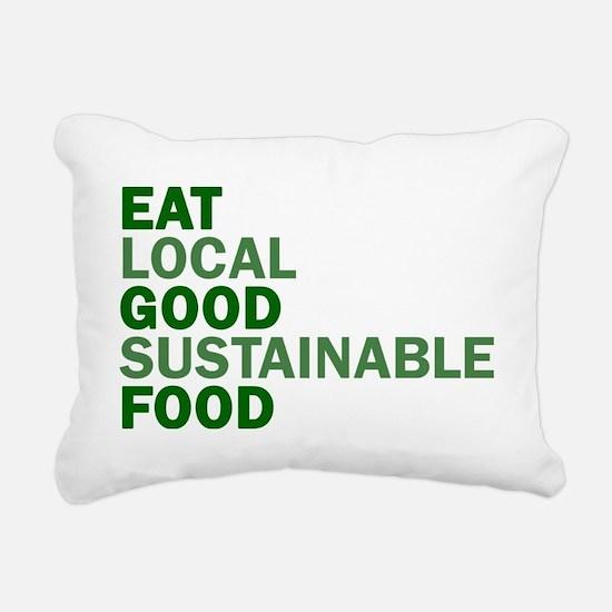eat-good Rectangular Canvas Pillow