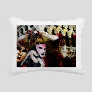 carnival_mask_a by Blake Rectangular Canvas Pillow
