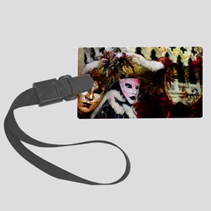 carnival_mask_a by Blake Robson  Large Luggage Tag