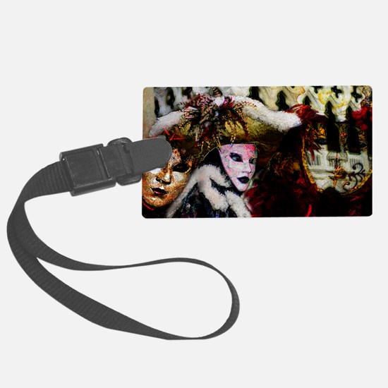 carnival_mask_a by Blake Robson  Luggage Tag