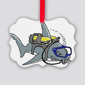 Scuba Shark Picture Ornament