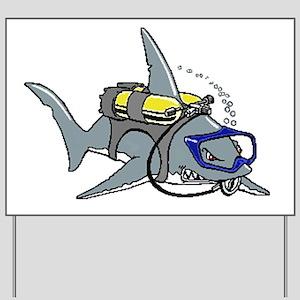 Scuba Shark Yard Sign