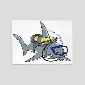 Scuba Shark 5'x7'Area Rug