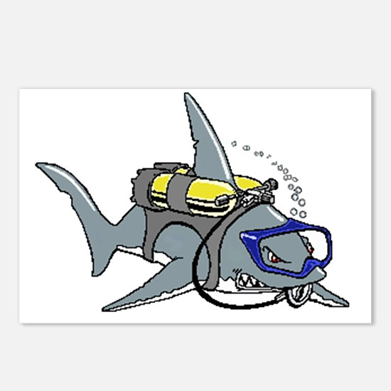 Scuba Shark Postcards (Package of 8)