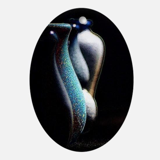 pottery_vase copy Oval Ornament