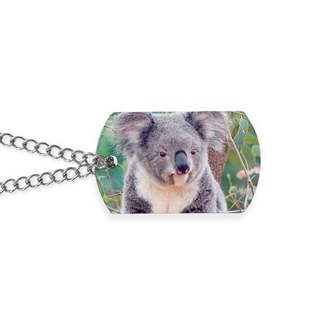 Koala Smile rec magnet Dog Tags