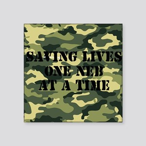 "savinglivescamo2 Square Sticker 3"" x 3"""