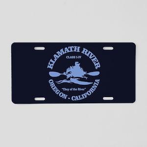 Klamath River Aluminum License Plate