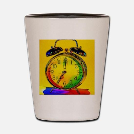 technicolor_clock Shot Glass