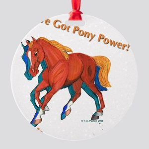 welsh cantering3 Round Ornament