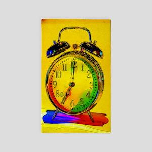technicolor_clock 3'x5' Area Rug