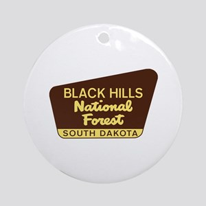 Black Hills National Forest South D Round Ornament