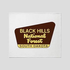 Black Hills National Forest South Da Throw Blanket