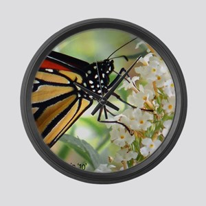 butterfly straw copy Large Wall Clock