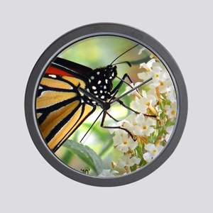 butterfly straw copy Wall Clock