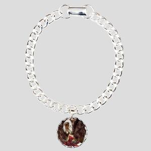 SpringerSpanielChristma  Charm Bracelet, One Charm