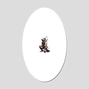 Abbas-PSD 20x12 Oval Wall Decal