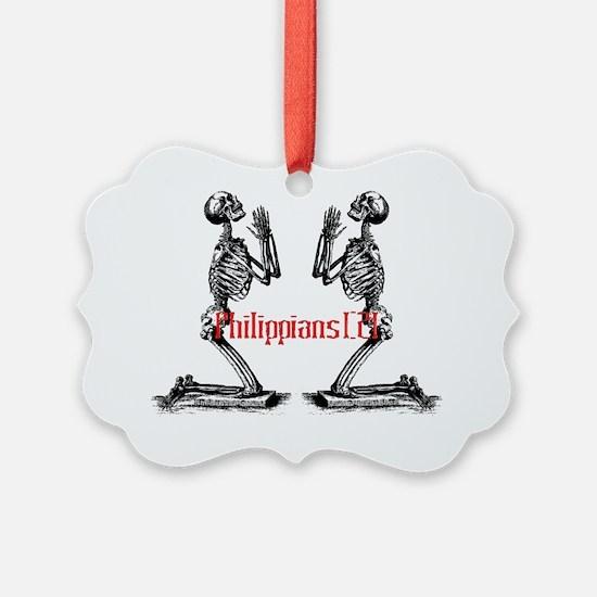 prayer skeleton background iphone Ornament