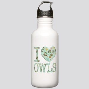 Love Owls Pattern Stainless Water Bottle 1.0L