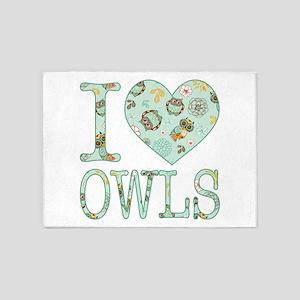 Love Owls Pattern 5'x7'Area Rug