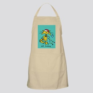 yellow cat x-mas-WITH background copy Apron