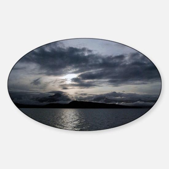 Alaska Inside Passage Sticker (Oval)