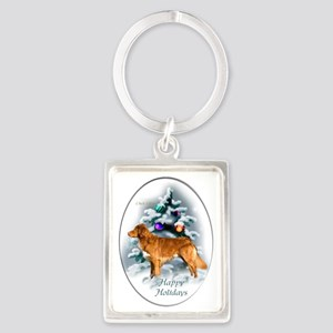 NS Duck Toller Christmas 7 Portrait Keychain