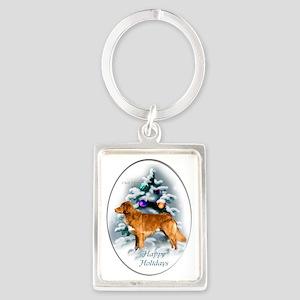 NS Duck Toller Christmas 7 Portrait Keychain