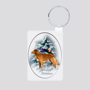 NS Duck Toller Christmas 7 Aluminum Photo Keychain