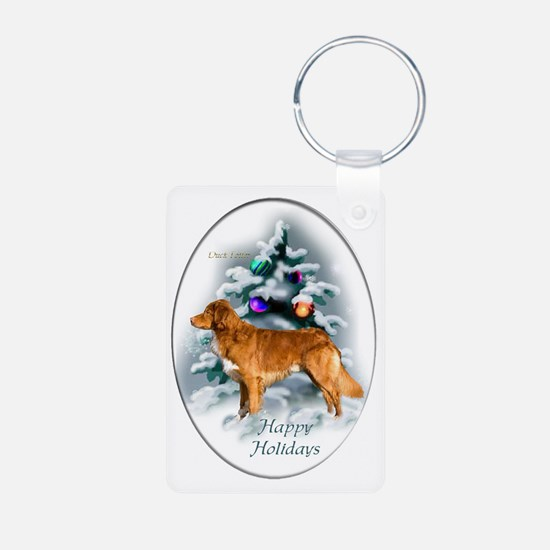 NS Duck Toller Christmas 7 Keychains