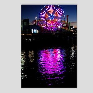 Santa Monica Pier New Fer Postcards (Package of 8)