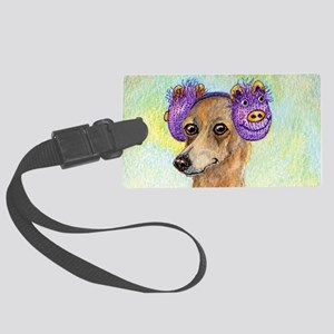 She loved these cold, crisp morn Large Luggage Tag