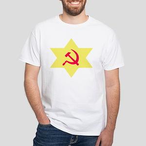 Hammer, Sickle, Star White T-Shirt
