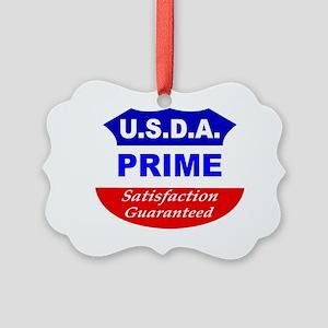 USDA- White Picture Ornament