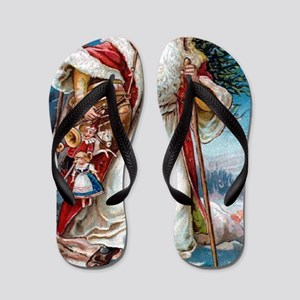 ! Santa 1 Flip Flops